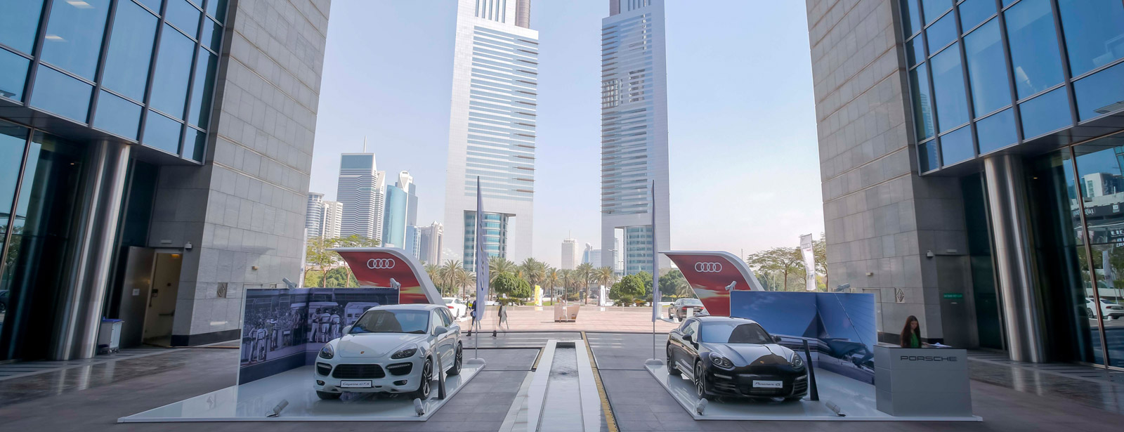 March 30th, 2014 | Brand new Porsche Macan S steals the show at Dubai's financial district.