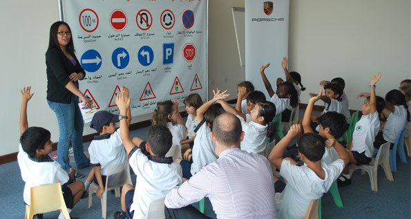 Porsche Kids Driving School Qatar Porsche Middle East