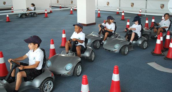 Porsche Kids Driving School Qatar Porsche Middle East