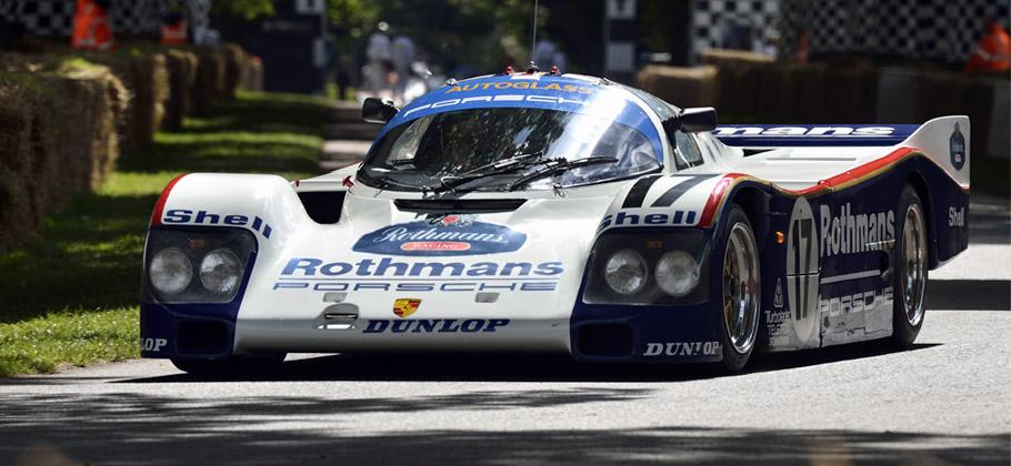 2012: Der Porsche 956 beim Goodwood Festival of Speed in Großbritannien.