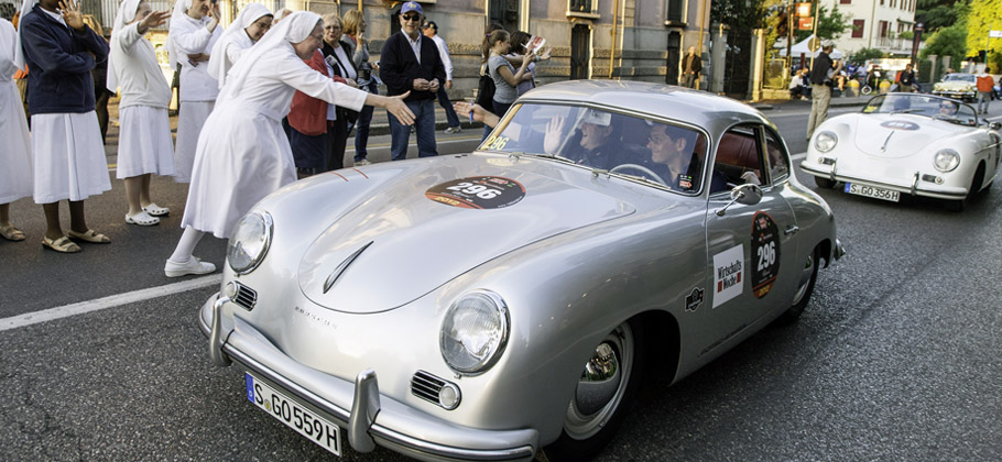 2012: The Porsche 356 at the Mille Miglia.