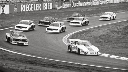 "Porsche 935 ""Baby"" comes in first at Hockenheimring in 1977"