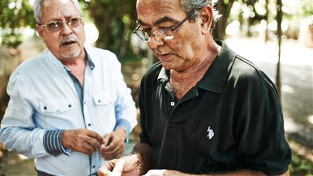 (l-r) Manuel García Fernández, Alberto Gutiérrez Alonso