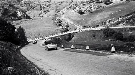 Historical photograph of the Targa Florio