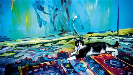 Studio of artist Alexa Meade
