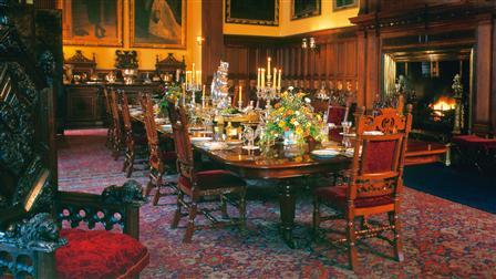 Porsche Dining room in Glamis Castle in Scotland