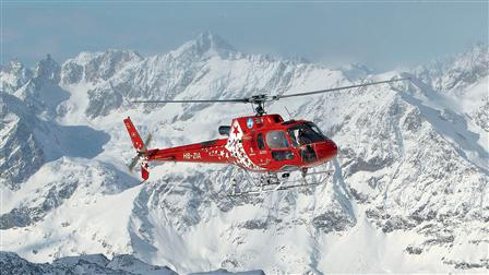 Air Zermatt's helicopter AS350 B3 Écureuil