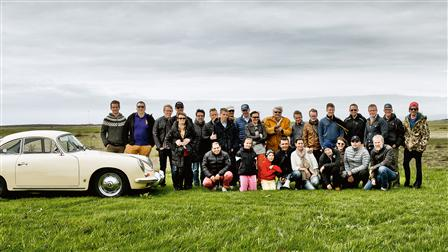 A part of the Porsche Club Iceland