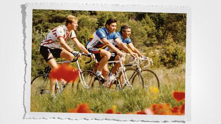 Walter Röhrl, Eddy Merckx, Victor Van Schil (l-r)