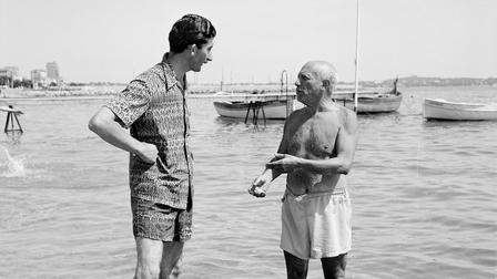 Pablo Picasso (r) and Edward Quinn (l)