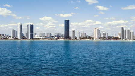 Porsche Design Tower Miami in Sunny Island Beach