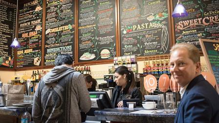 Café in Palo Alto, California