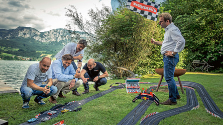 The slot-cars on the home stretch