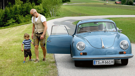 Markus Meindl with his Porsche 356 A