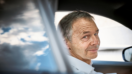August Achleitner in the new Porsche 911