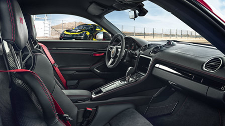 Porsche Interior of the 718 Cayman T