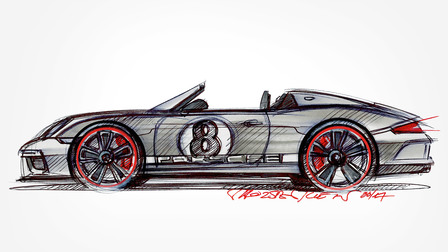 Sketch of the 911 Speedster