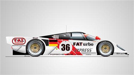 Porsche 962 Dauer Le Mans GT