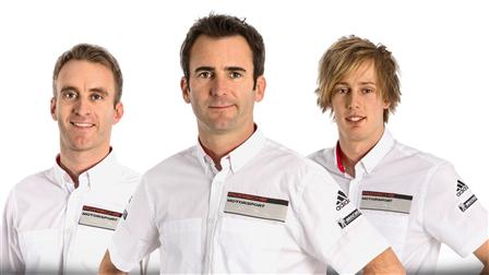 Timo Bernhard, Romain Dumas, Brendon Hartley