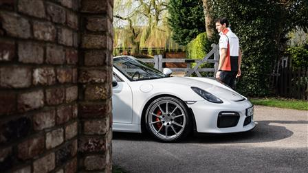 Factory-Driver Mark Webber takes a first look at the Boxster Spyder