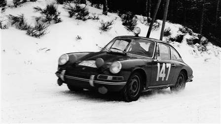 Monte-Carlo 911 of 1965 snowtrack French Maritime Alps