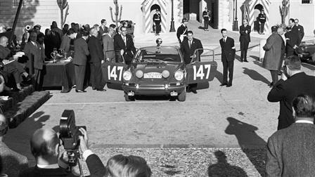 Monte-Carlo 911, victory ceremony 1965 in Monaco