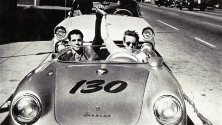 Actor James Dean (right) and Passenger in the 550 Spyder, 1955