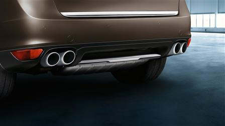 Porsche Stainless steel rear trim for the Cayenne (E2, 1st generation)