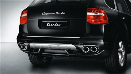 Porsche Stainless steel rear trim for the Cayenne (E1, 2nd generation)