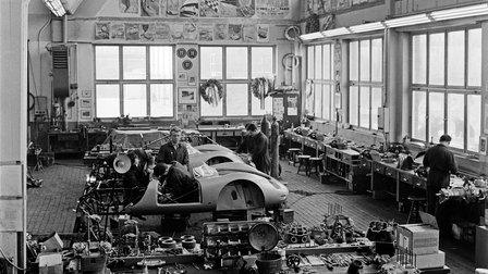 1959: Porsche Racing Department in Werk 1