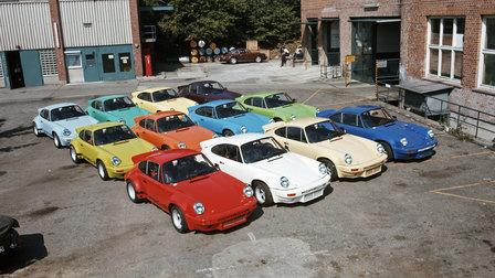 1974: Twelve 911 Carrera RSR 3.0 standing