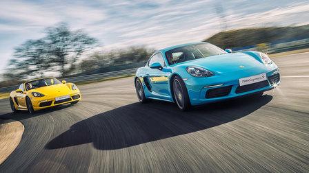 Porsche 718 on track