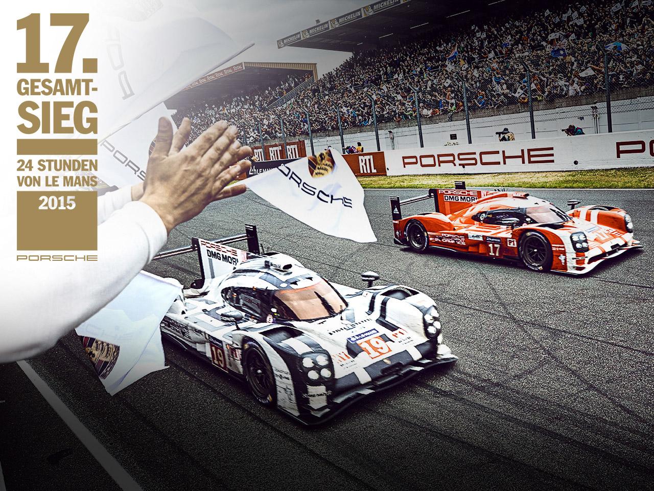 Porsche 17. Gesamtsieg: Porsche gewinnt die 24h Le Mans