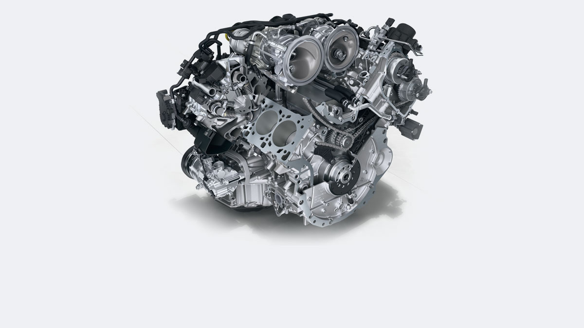 Porsche - Os motores: A mudança requer força de vontade.