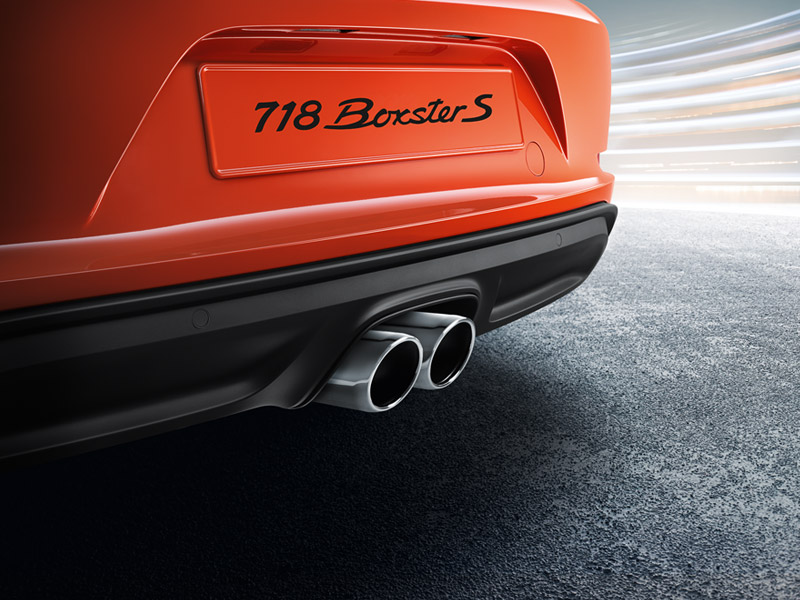 Porsche The new 718 Boxster - Sports exhaust system