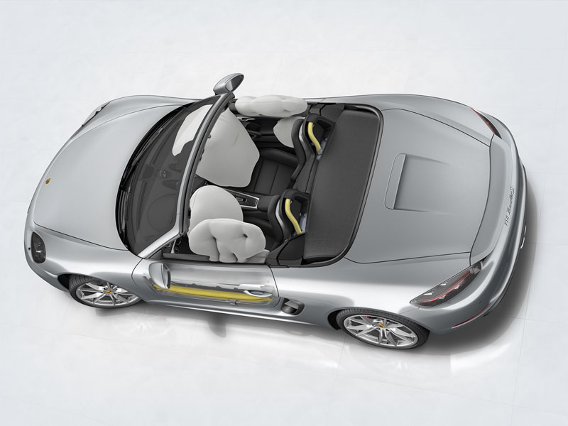 Porsche The new 718 Boxster - Airbags and Porsche Side Impact Protection System (POSIP)
