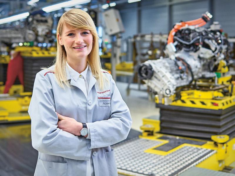 Porsche Erster Arbeitstag