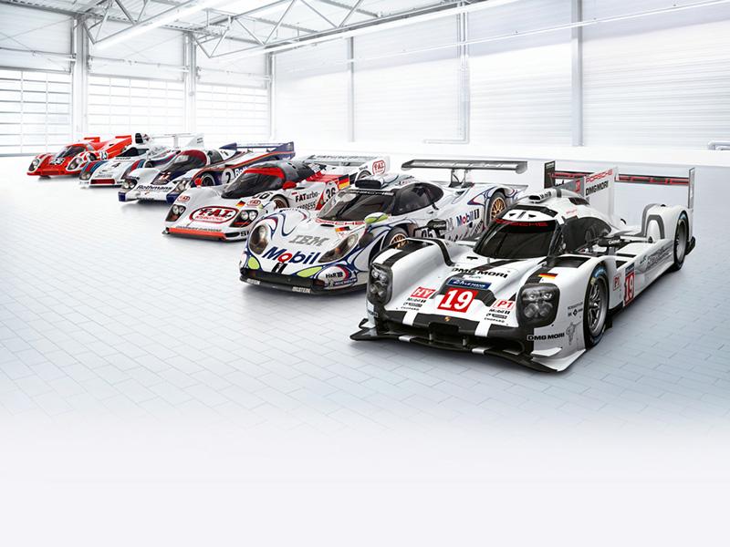 Porsche Zeitstrahl Le Mans Sieger