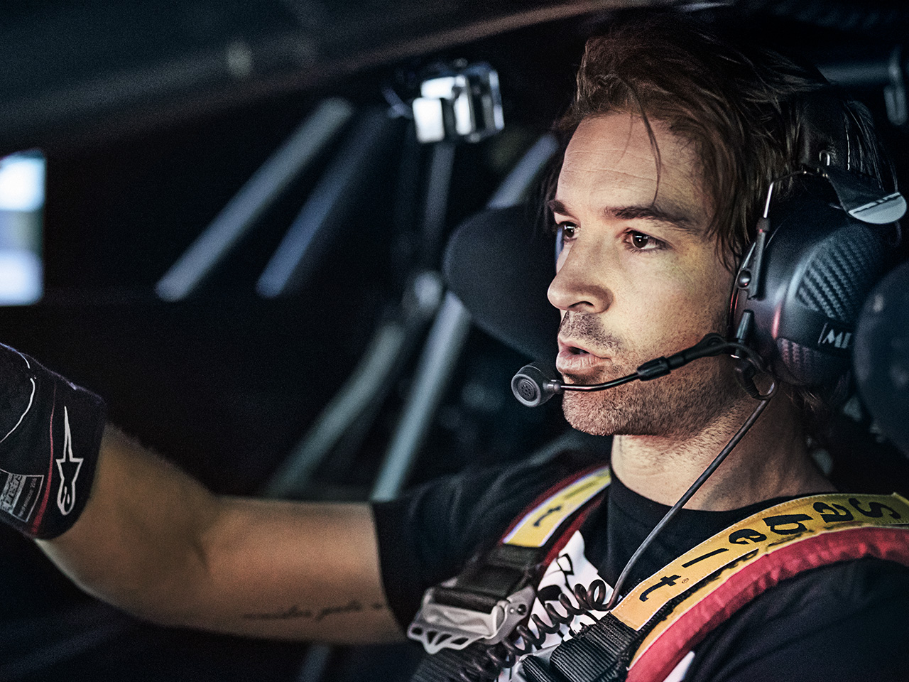 Porsche Baseball star C. J. Wilson. Le Mans in simulator training.