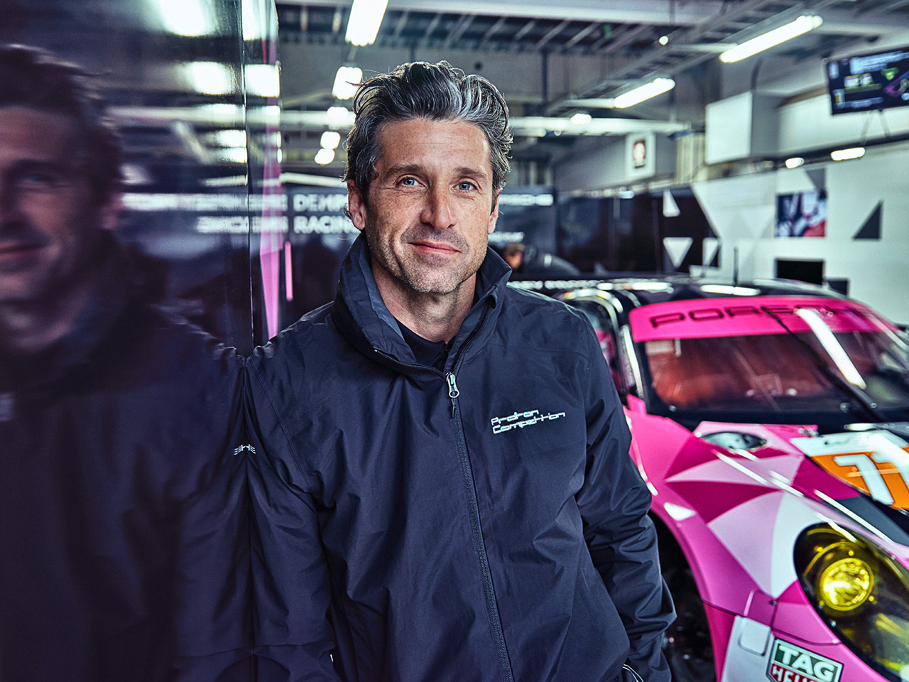 Porsche Dempsey Proton Racing. Breast Cancer Awareness is pink.