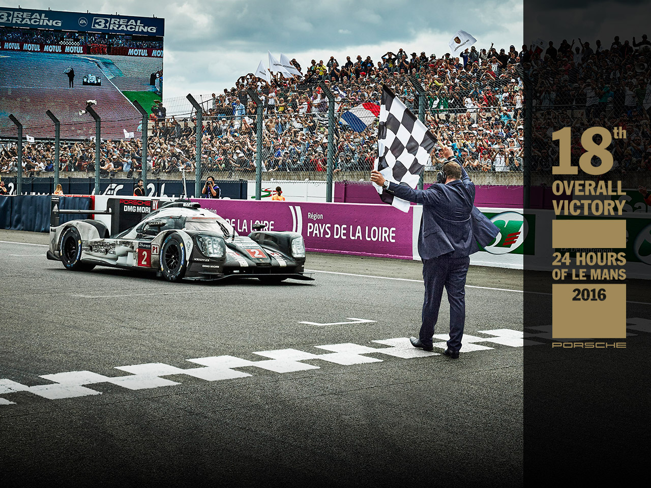 Porsche Porsche wins the 24h of Le Mans.