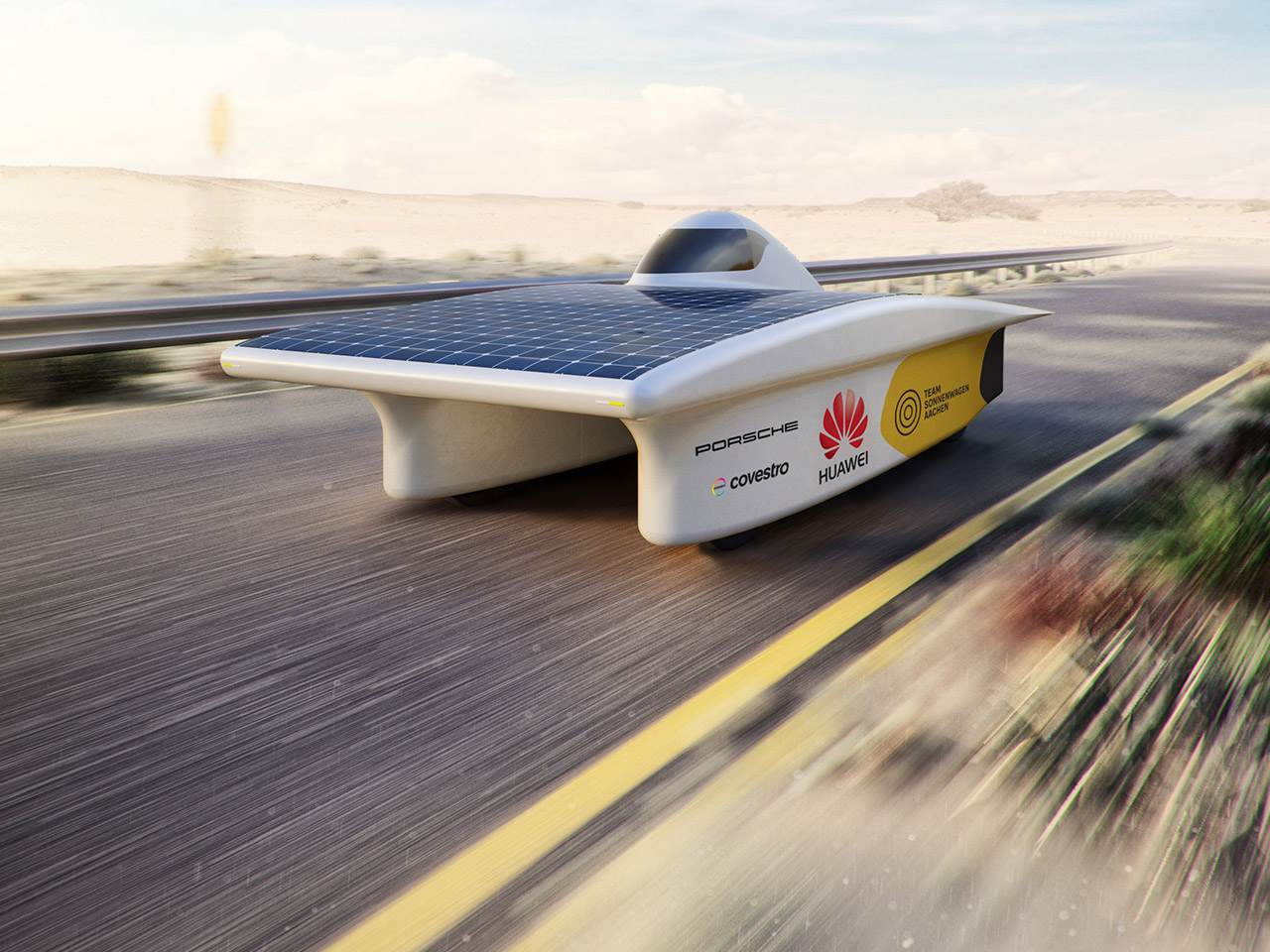 Porsche Solar-powered vehicle: Porsche assists German team