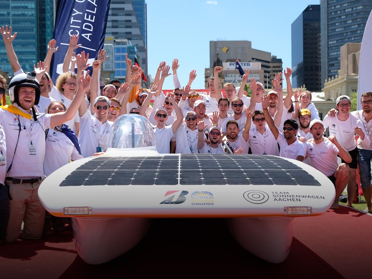 Porsche World Solar Challenge 2017. Team Sonnenwagen Aachen