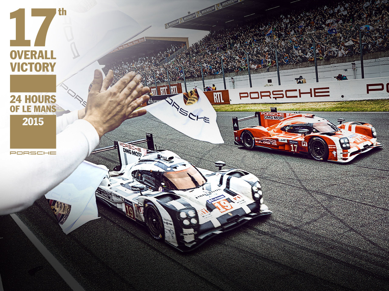 Porsche 17th overall victory: Porsche wins 24h Le Mans