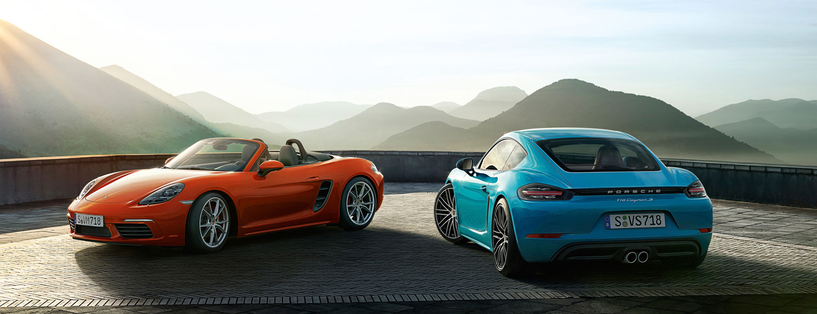 Porsche - For the sport of it. - The new 718 Cayman and 718 Boxster models.