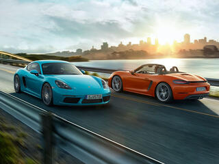 The new 718 Cayman and 718 Boxster models.
