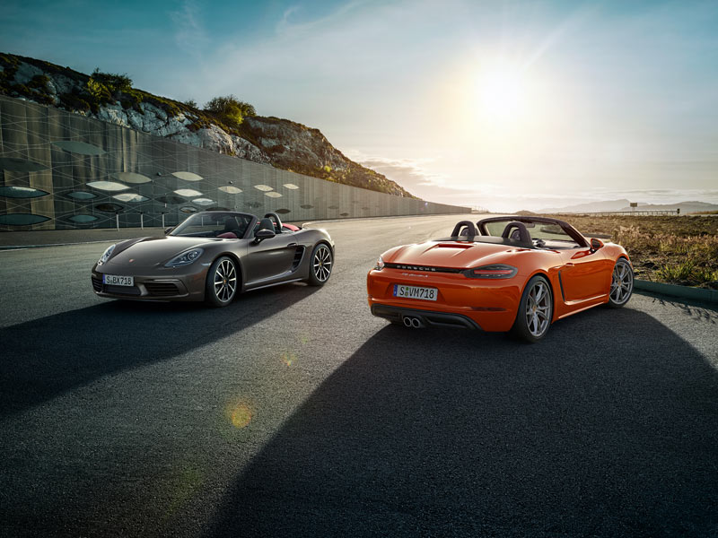 Porsche 718 Boxster Models - The principle of the mid-engined sport car