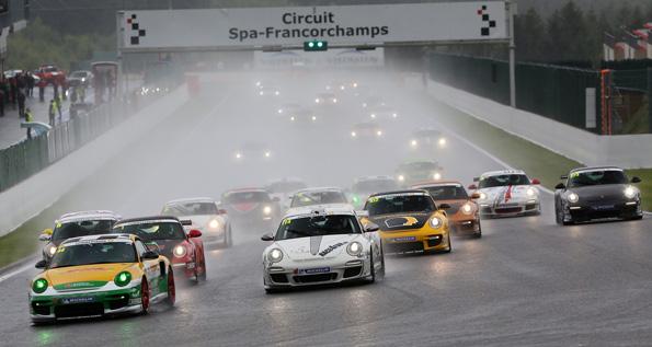 Porsche Sports Cup: Start zum ersten Rennen in Spa