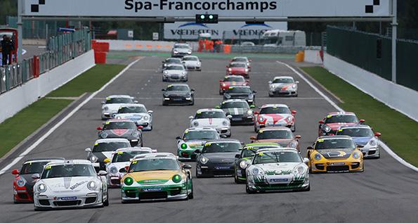 Start zum Porsche Sports Cup in Spa