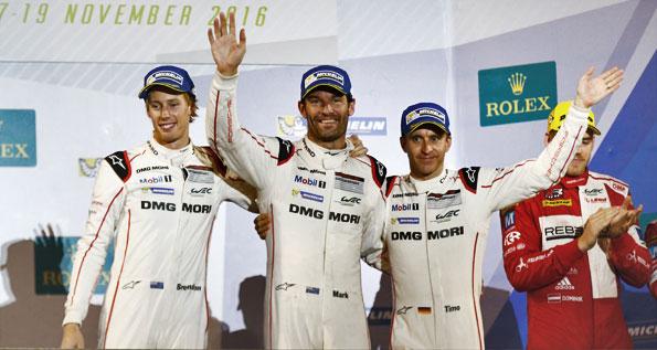 Porsche 919 Hybrid, Porsche Team: Brendon Hartley, Mark Webber, Timo Bernhard (l-r)